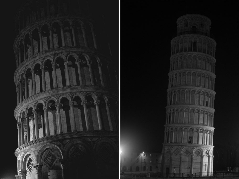Leaning Tower of Pisa at Night